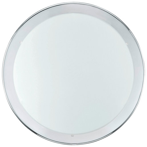 Eglo Planet Chrome & Satinated Glass Large Wall