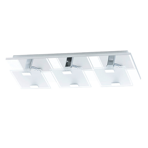 Eglo Vicaro LED Chrome 3 Lamp Square Flush