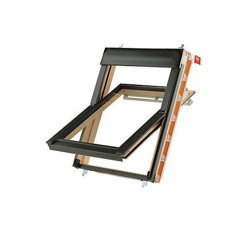 Keylite Pine Centre Pivot Roof Window with Frosted