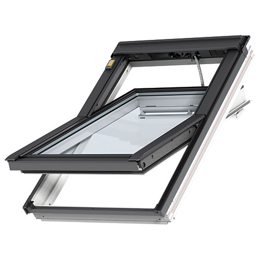 VELUX INTEGRA White Painted Electric Centre Pivot Roof