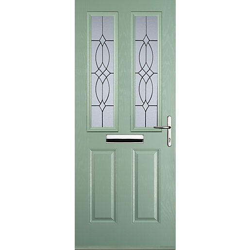 Euramax 2 Panel 2 Square Chartwell Green Left