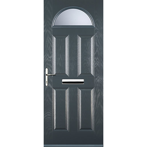Euramax 4 Panel 1 Arch Grey Right Hand