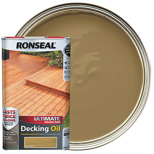 Ronseal Ultimate Protection Decking Oil - Natural 5L