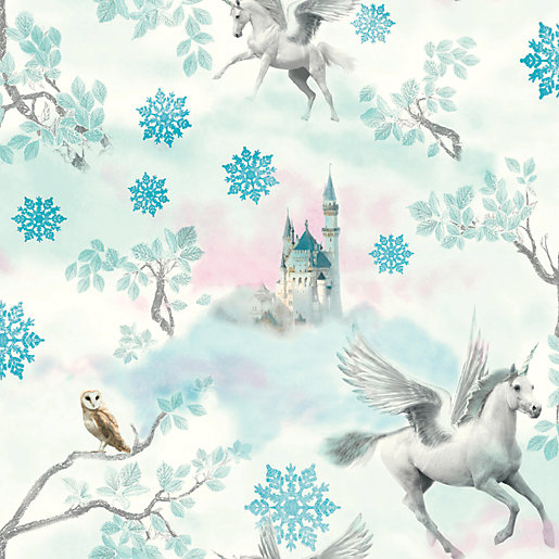 Arthouse Fairytale Ice Blue Wallpaper 10.05m x 53cm