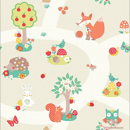 Arthouse Forest Friends Neutral Wallpaper 10.05m x 53cm