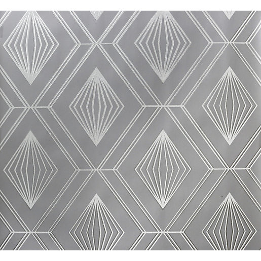 Arthouse Glitter Diamond Charcoal Grey Wallpaper 10.05m x