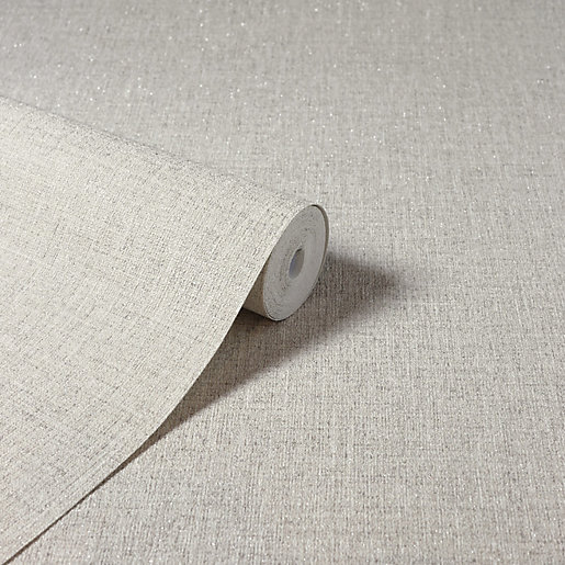 Arthouse Luxe Hessian Taupe Wallpaper 10.05m x 53cm