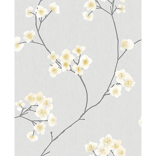 Superfresco Easy Radiance Grey and Ochre Decorative wallpaper