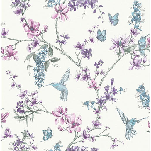 Superfresco Easy Simplicity Pearl/Lilac Decorative Wallpaper -