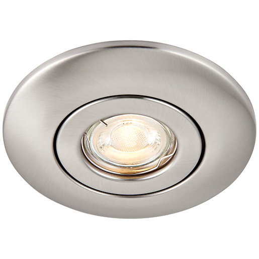 Saxby GU10 Downlight Converter Kit - Brushed Nickel