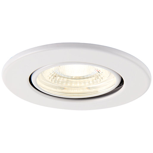 Saxby Integrated LED Fire Rated Adjustable Cool White