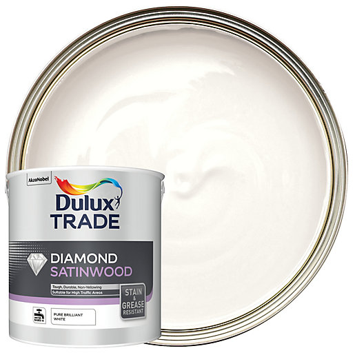 Dulux Trade Diamond Satinwood Paint - Pure Brilliant