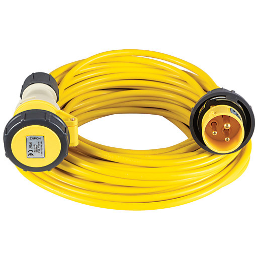 Defender 110v 2.5mm 16A Extension Lead - 10m