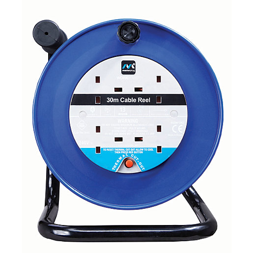 Masterplug 4 Socket Thermal Cut-out Open Cable Reel