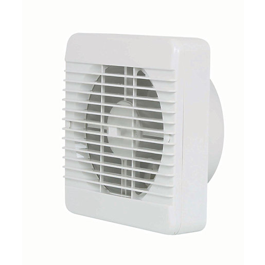 Manrose Kitchen Extractor Fan with Pullcord - White