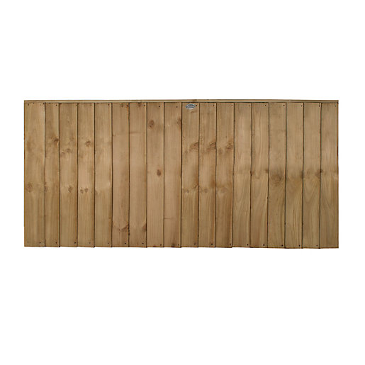 Forest Garden Pressure Treated Featheredge Fence Panel -