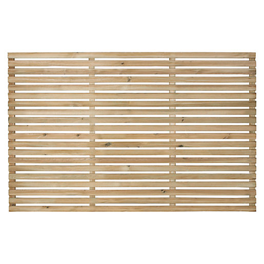 Forest Garden Single Slatted Fence Panel 6 x