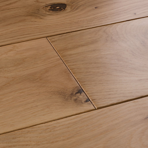 Style Country Light Oak Solid Wood Flooring Sample