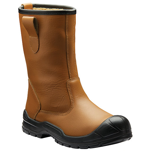 Dickies Dixon Lined Safety Rigger Boot - Tan