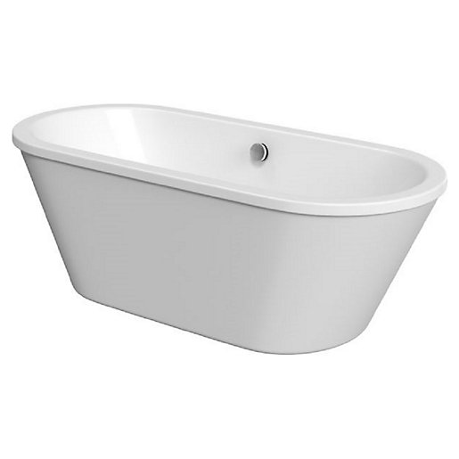 Wickes Eden Freestanding Contemporary Twin Skirted Oval Bath