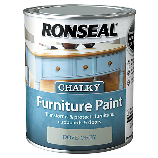 Ronseal Furniture Paint Dove Grey, Grey Chalky Furniture Paint