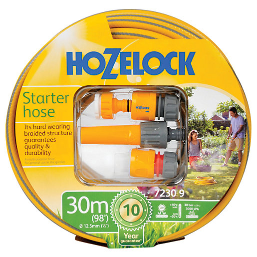 Hozelock 7230 Hose Pipe Starter Set - 30m