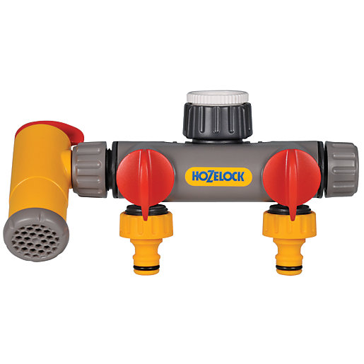 Hozelock Flow Max 3 Way Tap Connector