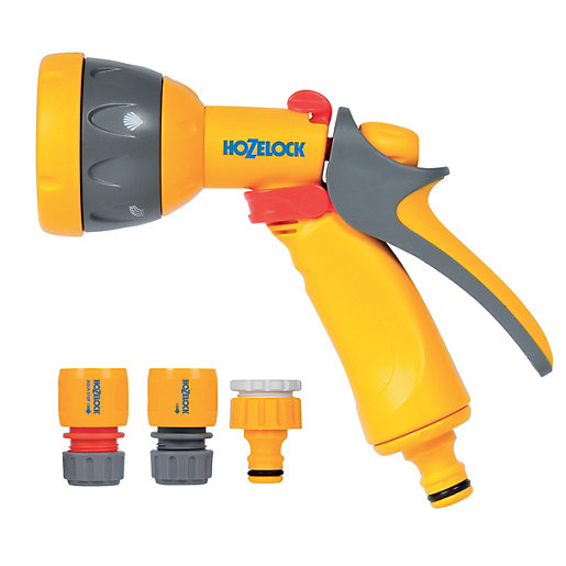 Hozelock Garden Hose Pipe Multi Spray Gun Starter