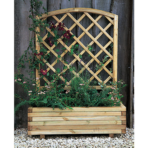 Forest Garden Toulouse Planter Natural - 1m x