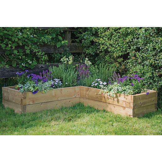 Forest Garden Caledonian Corner Raised Bed 1 3m X 1 3m Wickes Co Uk
