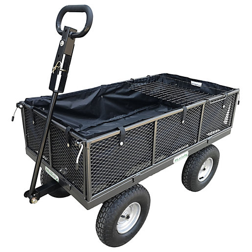 400kg 880lbGarden Trolley with Liner & Tool Tray