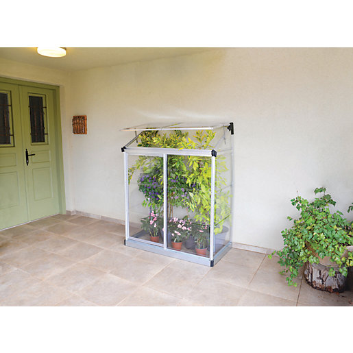 Palram 4 x 2ft Lean-To Aluminium Greenhouse with