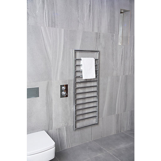 Towelrads Strand Chrome Towel Radiator - 900 x