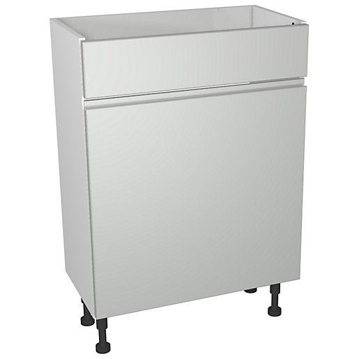 Wickes Hertford Grey Gloss Compact Toilet Unit -