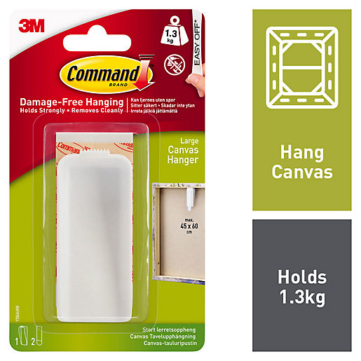 Command White Large Canvas Picture Hanger