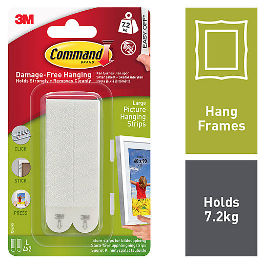 Command White Large Picture Hanging Strips - 4
