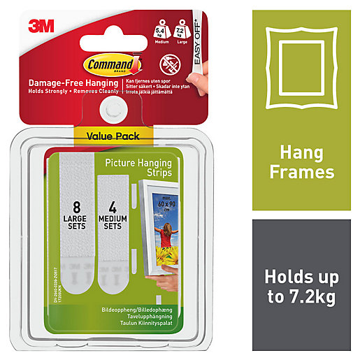 Command White Picture Hanging Strips - 4 Pairs