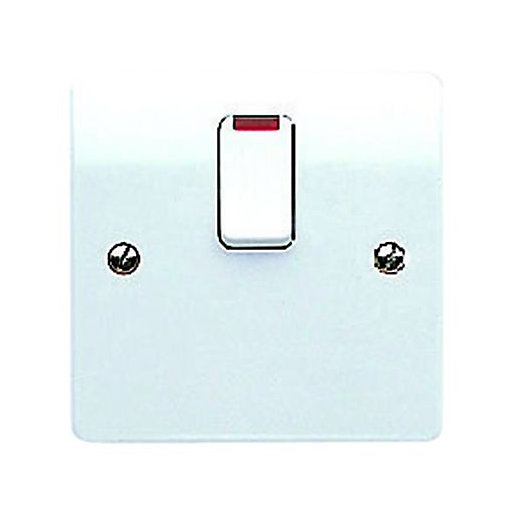 MK 20A Neon Switched Flex Outlet - White