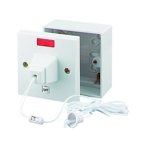 Wickes 45 Amp Pull Cord Shower Control &