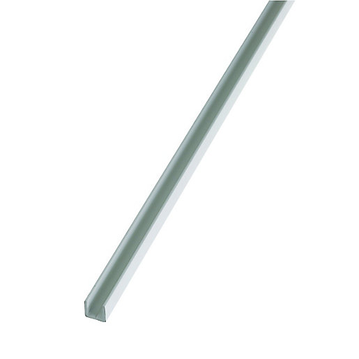 Wickes 15.5mm Multi-Purpose U Section - White PVCu