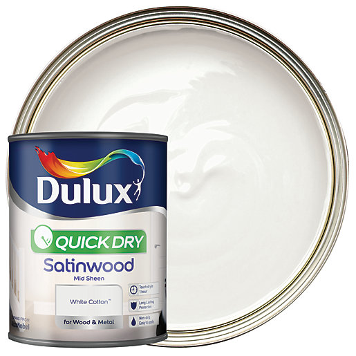 Dulux Quick Dry Satinwood Paint - White Cotton