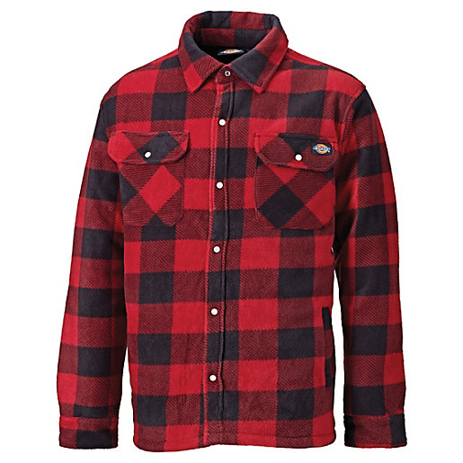 Dickies Red Portland Checked Padded Shirt L