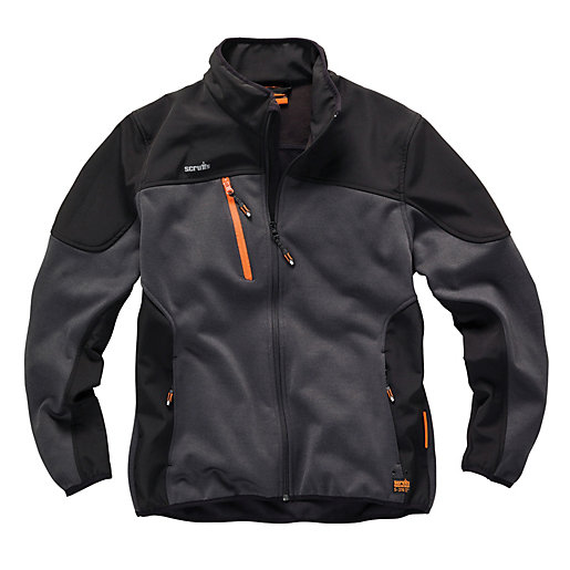 Scruffs Trade Tech Softshell Jacket - Black/Grey