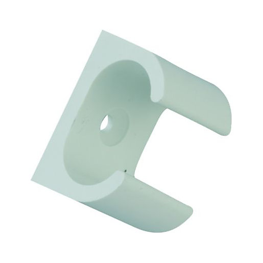 Wickes Oval Conduit Clip - White 16mm Pack