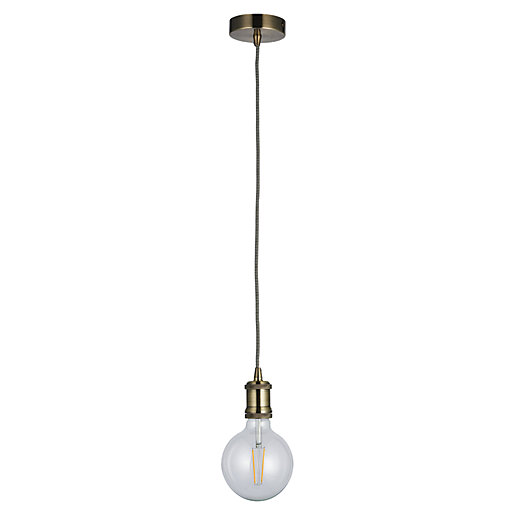 Cambourne Pendant Light Antique Brass