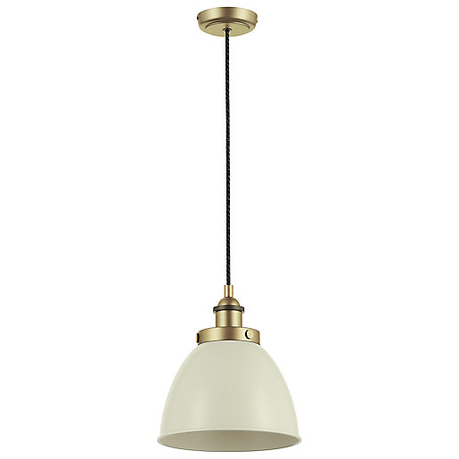 Franklin Pendant Light Taupe and Brass