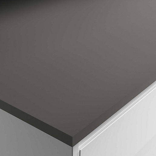 Anthracite Grey Super Matt Laminate Breakfast Bar 3000x900x22mm
