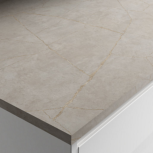 Wickes Laminate Worktop - Minos Stone Square Edge
