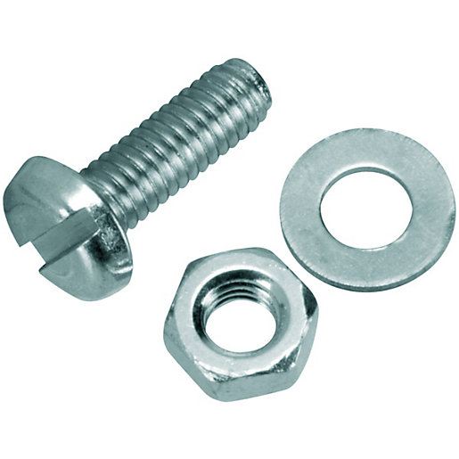 Wickes Machine Screws With Nut & Washer -
