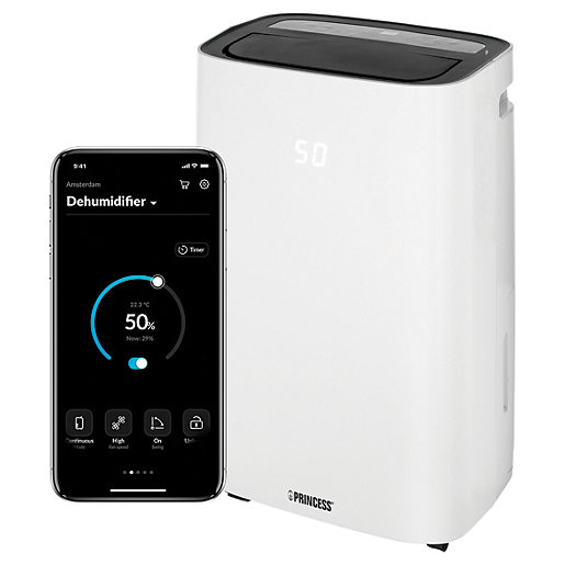 Princess 20 Litre Smart Dehumidifier White